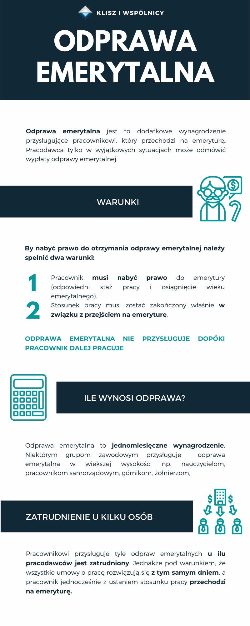 odprawa emerytalna infografika