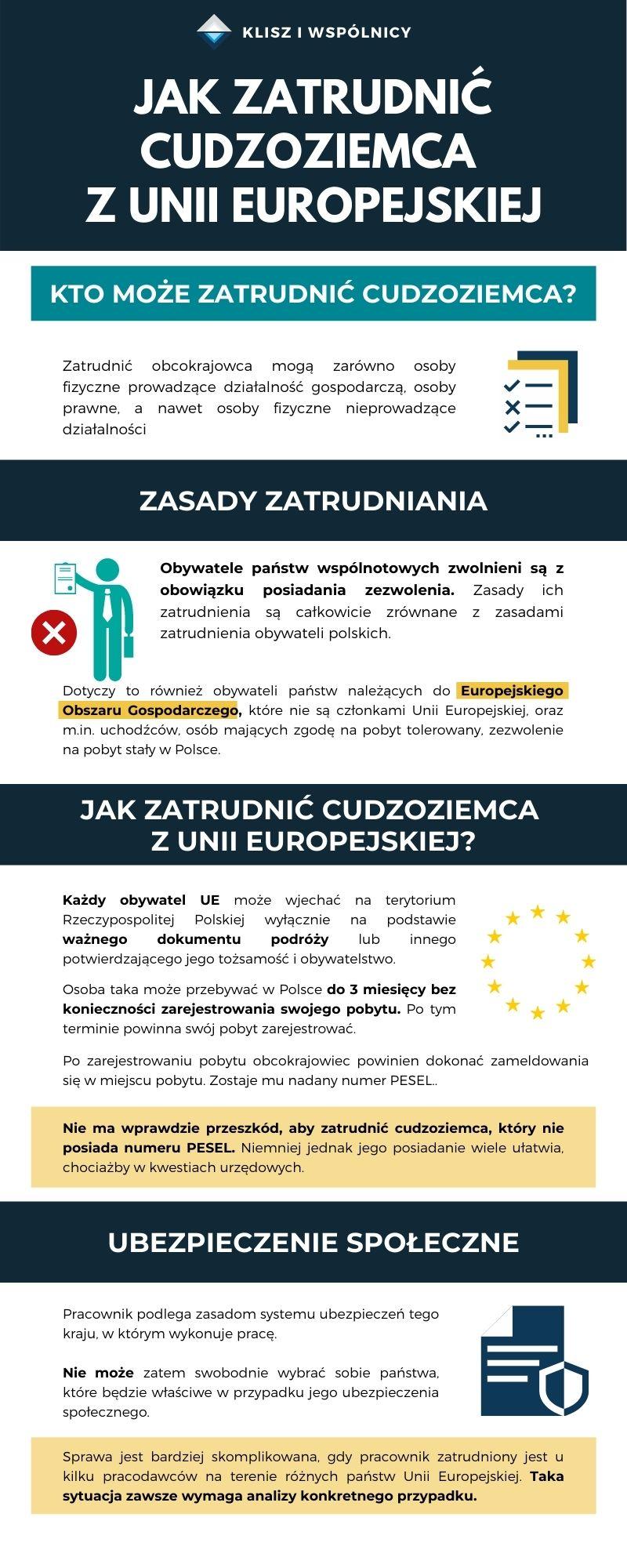 jak zatrudnić cudzoziemca z UE